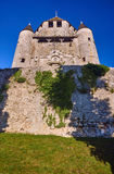 Stone walls and towers of a medieval castle in the town of Provins Royalty Free Stock Photos
