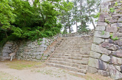 Stone walls of Yoshida Castle, Aichi Prefecture, Japan. Stone walls of Yoshida Castle, Japan. Castle was founded in 1505 by Makino Kohaku, destroyed in a fire in royalty free stock photos