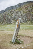 Stone warrior in the Altai - the sanctuary of Adyr-Kahn Royalty Free Stock Photography