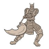 Stone warrior Stock Images