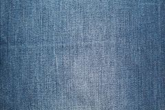 Stone washed blue jeans texture. And background Royalty Free Stock Photos