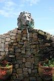 Stone water fountain. Stock Photos