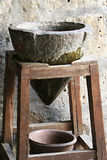 Stone water gravity water filter, Arequipa, Peru Royalty Free Stock Photography