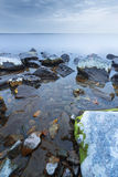Stone in water Royalty Free Stock Photos