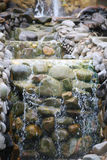 Stone and waterfall2. Theres the gardening use the stone and waterfall Royalty Free Stock Photography
