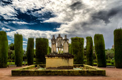 Stone wedding. Statue of the Catholic Kings from Spain representing their wedding Stock Images