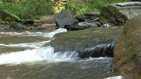 Stone weir on the river stock video footage