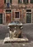 stone community well,Venice royalty free stock photography
