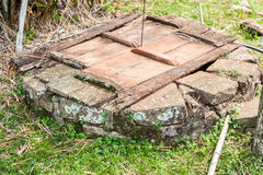 Stone Well Wood Cover Royalty Free Stock Photography