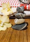 stone wellness lotos Fotografia Stock