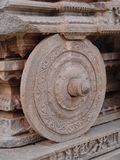 Stone wheel, Hampi, Vijayanagar Royalty Free Stock Photo