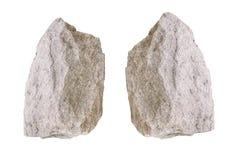 Stone on white background. Royalty Free Stock Image