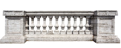 Stone White Baluster Royalty Free Stock Photos