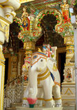 Stone white elephant statue in a temple Royalty Free Stock Image