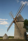 Stone windmill Stock Image