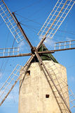 Stone windmill on gozo island in malta Stock Photo