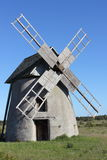 Stone windmill Royalty Free Stock Photo