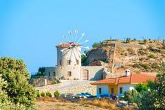 Stone windmill Stock Photos