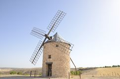 Stone windmill Stock Image