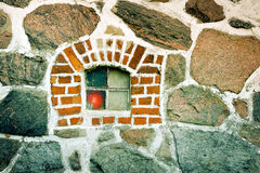 Stone window Royalty Free Stock Photography