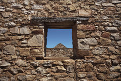 Through The Stone Window Royalty Free Stock Photography