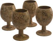Stone wine-glasses royalty free stock image