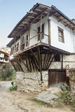 The stone and wood architecture Melnik in Bulgaria Stock Photos