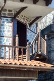 Stone-wood architecture of the town of Melnik, Bulgaria Royalty Free Stock Photos