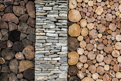 Stone and wood background. royalty free stock photography