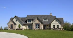 Stone And Wood Luxury Estate Stock Image