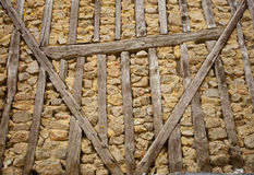 Stone and wood wall Royalty Free Stock Photography