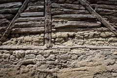 Stone and wood Wall  Background Royalty Free Stock Photos