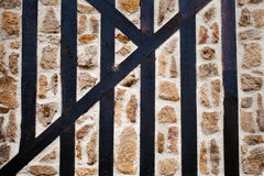 Stone and Wood Wall Stock Photos