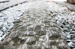 Wood floor with stone covered royalty free stock photography