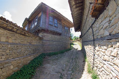 Stone-wooden architecture Bulgarian village Stock Images