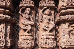 Stone Work at Konark Royalty Free Stock Photo