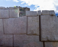 Stone Work used in Machu Pichu Royalty Free Stock Images