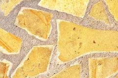 Stone wall texture background. Assembled as a mosaic Stock Photography