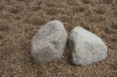 Stone in zen garden Stock Image