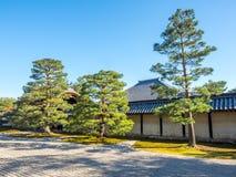 Stone zen garden in Kyoto, Japan. Classic stone garden in Japanese zen style in Kyoto, Japan Royalty Free Stock Photos