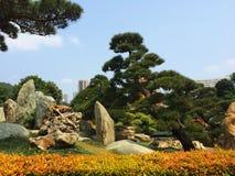 Stone zen garden park Stock Photos