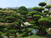 Stone zen garden park Royalty Free Stock Photo