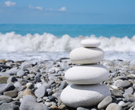 Stone zen-like balance Royalty Free Stock Images