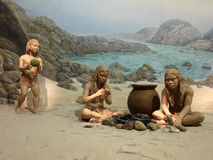 Stoneage family Royalty Free Stock Photography
