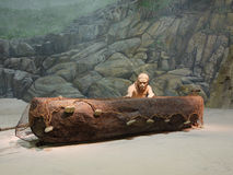 Stoneage man. Models of Stoneage Man in Hong Kong Heritage Museum royalty free stock photography