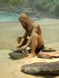 stoneagekvinna Royaltyfri Fotografi