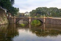 Stonebridge de Seimon au palais impérial à Tokyo images libres de droits