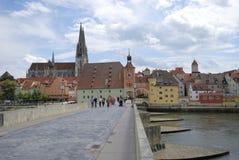 Stonebridge en Regensburg Fotografía de archivo libre de regalías