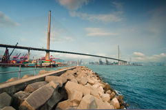 Stonecutters Bridge Hong Kong Stock Images