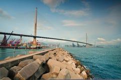 Stonecutters Bridge Hong Kong stock images